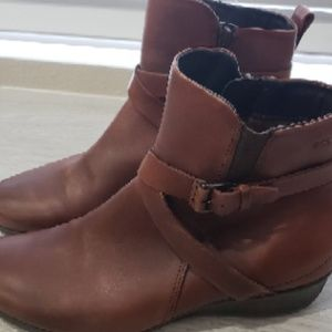 ECCO Leather Boots - Size 38
